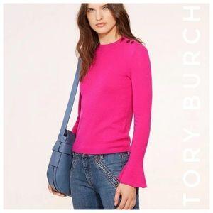 TORY BURCH Kimberley sweater hibiscus pink